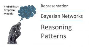 Probabilistic Graphical Models Representation Bayesian Networks Reasoning Patterns