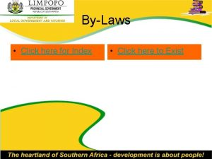 ByLaws Click here for Index Click here to