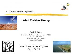 12 2 Wind Turbine Systems Wind Turbine Theory