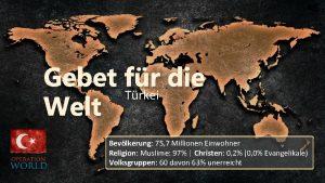 Gebet Trkei fr die Welt Bevlkerung 75 7