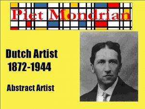 Dutch Artist 1872 1944 Abstract Artist When Dutch
