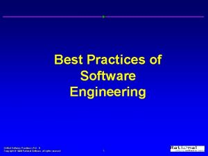 Best Practices of Software Engineering Unified Software Practices