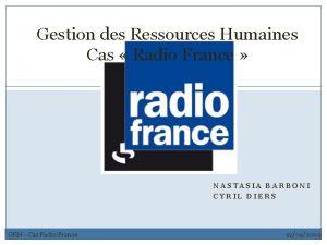 Gestion des Ressources Humaines Cas Radio France 1