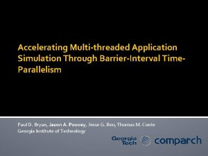 Accelerating Multithreaded Application Simulation Through BarrierInterval Time Parallelism