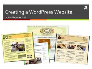 Creating a Word Press Website Is Word Press