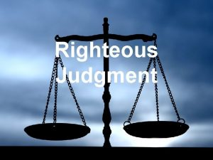 Righteous Judgment Blended Beliefs of the NT Jewish