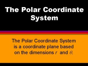 The Polar Coordinate System is a coordinate plane