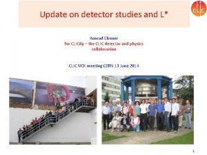Update on detector studies and L Konrad Elsener