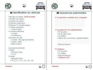 Identification du vhicule Assurances automobiles Marque et modle