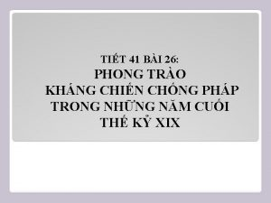 TIT 41 BI 26 PHONG TRO KHNG CHIN