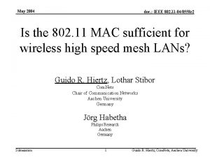 May 2004 doc IEEE 802 11 040558 r