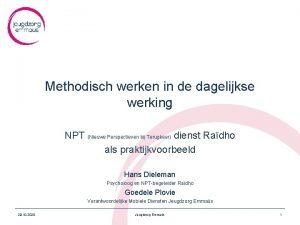 Methodisch werken in de dagelijkse werking NPT Nieuwe