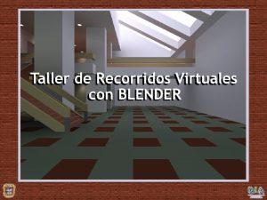 Qu es Blender Blender es una suite multiplataformas