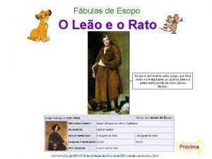 Fbulas de Esopo O Leo e o Rato