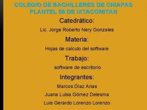 COLEGIO DE BACHILLERES DE CHIAPAS PLANTEL 56 DE