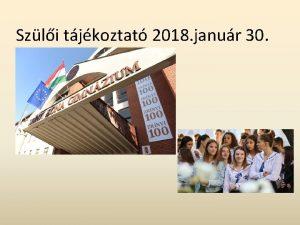 Szli tjkoztat 2018 janur 30 Pedaggus NOKS Egybtechn