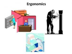 Ergonomics What is Ergonomics ERGO work NOMICS laws
