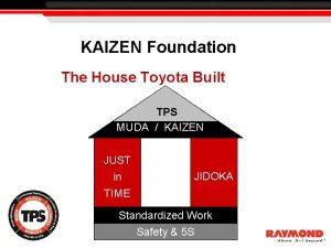 KAIZEN Foundation The House Toyota Built TPS MUDA