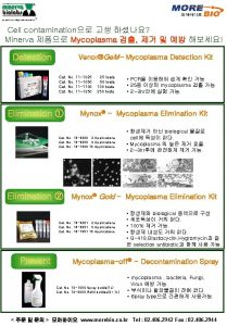 Cell contamination Minerva Mycoplasma Detection VenorGe M Mycoplasma
