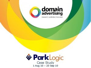 Case Study 1 Aug 10 20 www parklogic