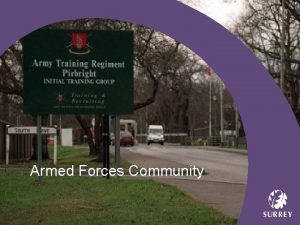 Armed Forces Community Armed Forces Footprint Army Training