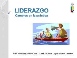 Prof Hortensia Morales C Gestin de la Organizacin