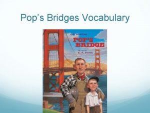 Pops Bridges Vocabulary Crew Sentence A crew or