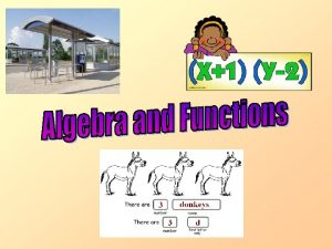 Algebra and Functions This chapter focuses on Algebra