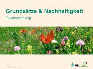 Grundstze Nachhaltigkeit Foliensammlung 2016 Fi BL Bio Suisse