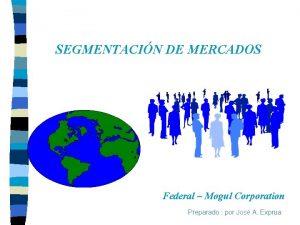 SEGMENTACIN DE MERCADOS Federal Mogul Corporation Preparado por
