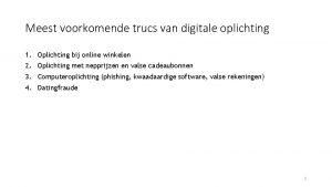 Meest voorkomende trucs van digitale oplichting 1 Oplichting