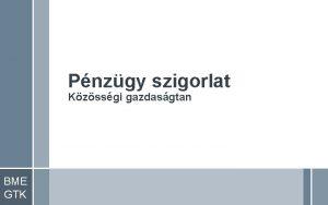 Pnzgy szigorlat Kzssgi gazdasgtan BME GTK 12 Vegyesgazdasg