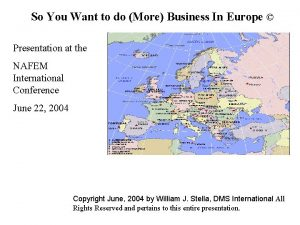 So You Want to do More Business In