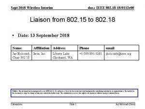 Sept 2018 Wireless Interim doc IEEE 802 18