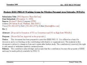 November 1999 doc IEEE 802 15 99146 r