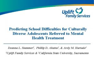 Predicting School Difficulties for Culturally Diverse Adolescents Referred