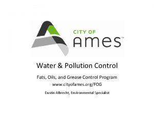 Water Pollution Control Fats Oils and Grease Control