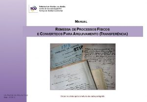 Tribunal de Contas da Unio Centro de DocumentaoISC