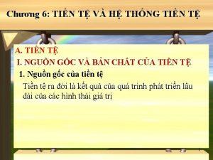Chng 6 TIN T V H THNG TIN