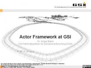 GSI Helmholtzzentrum fr Schwerionenforschung Gmb H Actor Framework