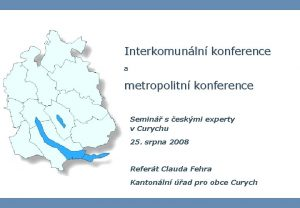 Interkomunln konference a metropolitn konference Semin s eskmi