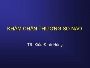 KHM CHN THNG S NO TS Kiu nh