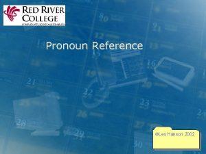 Pronoun Reference Les Hanson 2002 Making Pronoun Reference