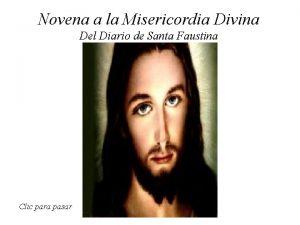 Novena a la Misericordia Divina Del Diario de