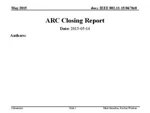 May 2015 doc IEEE 802 11 150670 r