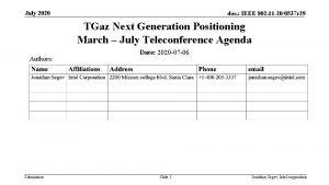 July 2020 doc IEEE 802 11 200537 r