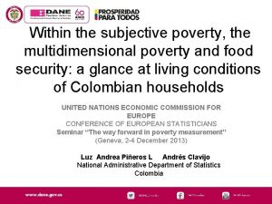 Within the subjective poverty the multidimensional poverty and