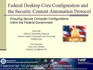 Federal Desktop Core Configuration and the Security Content