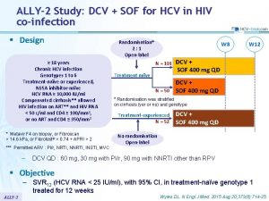ALLY2 Study DCV SOF for HCV in HIV