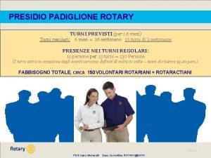 PRESIDIO PADIGLIONE ROTARY TURNI PREVISTI per i 6